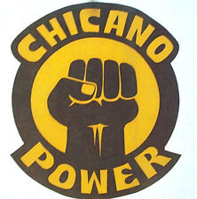 CHICANO POWER T SHIRT IRON ON MEXICAN HEAT TRANSFER VINTAGE #BadHombre THE WALL