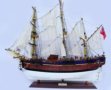 "HMS BARK ENDEAVOUR Painted Model Tall Ship 36"" Handcrafted Wooden Ship Model"