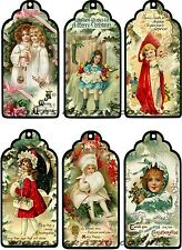 12 CHRISTMAS VINTAGE CHILDREN TOYS HANG / GIFT TAGS FOR SCRAPBOOK PAGES (29)
