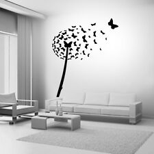 dandelion flower butterfly Quote Wall Stickers Art BATHROOM Removable Decals DIY