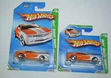 2010 HOT WHEELS CHEVY CAMARO CONCEPT TREASURE HUNTS REGULAR CARD AND SHORT CARD