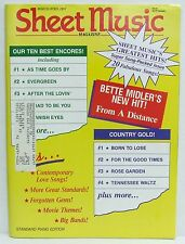 Greatest Hits Sheet Music Magazine Piano Bette Midler March/April 1991 VERY RARE