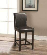 "24"" Dark Brown Parsons Counter Height Stool Chair by Coaster 130059 - Set of 2"