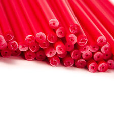 x500 190mm x 4.5mm Red Coloured Plastic Lollipop Lolly Cake Pop Sticks Crafts