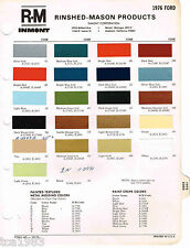 1976 FORD Color Paint Sample Brochure / Chart: MUSTANG, PINTO,