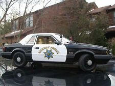 GMP 1:18 1985 Ford Mustang LX 5.0 California Highway Patrol Police Special  NEW!