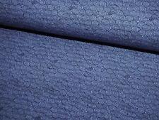 Baumwoll Jersey Circles Kreise Kringel dunkelblau Meterware Kinderstoff