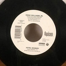 """rare Hank Williams Jr. The Count Song / Hotel Whiskey 7"""" 45 Capricorn Curb EX"""