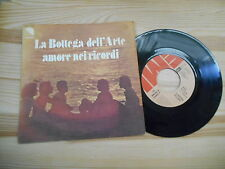 """7"""" tribale BOTTEGA DELL 'ARTE-AMORE NEI RICORDI/MARE NOSTRUM EMI ITALY"""