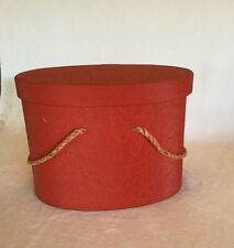 Vintage Sewing Case Red Quilted Vinyl Fabric Tray Insert Storage Box Basket