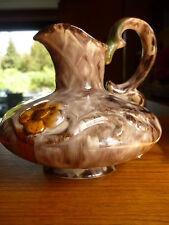 Vase Art Deko Keramik Henkelvase Handarbeit gemarkt 15,0 x 15,5cm Tischvase TOP