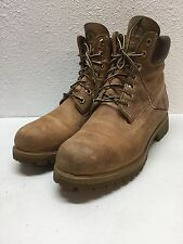 "Timberland 6"" Premium Wheat Leather Waterproof Boots Mens Size 8 M"