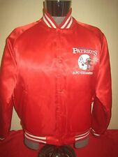 Vintage 1980's New England Patriots Super Bowl XX Chalk Line Jacket Made USA