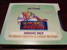 MUSIC MAESTRO KARAOKE BOX SET COUNTRY IV 5 CD+G 85 TRACKS