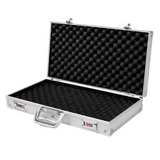 Aluminum Framed Locking Hand Gun Storage Pistol Lock Box Hard Shell Carry Case