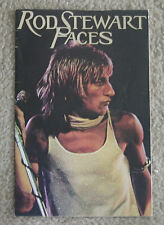1975 Rod Stewart Faces concert program Atlantic Crossing tour book Ron Wood