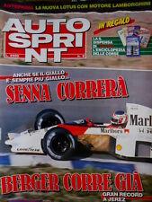 Autosprint 8 1990 Record a Jerez di Berger. Lotus con motore Lamborghini SC.54
