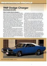 1969 DODGE CHARGER  ~  NICE 6-PAGE RESTORATION ARTICLE / AD