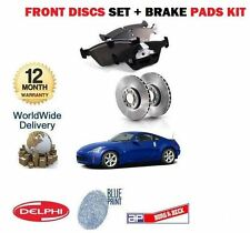 FOR NISSAN 350 Z Z33 2003-2007 3.5 COUPE FRONT BRAKE DISCS + DISC PAD SET KIT