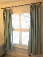 John Lewis Lined Duck Egg Blue Curtains 167cm Wide, 182cm Drop