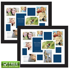 13-Opening Collage Photo Picture Frame Vertical Horizontal Black 16x20 Set Of 2