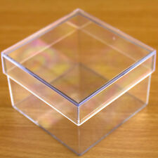 1x Square Shaped Fillable Transparent Plastic Container gift wedding favours