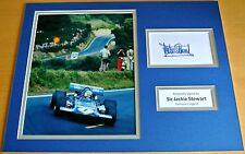 SIR JACKIE STEWART HAND SIGNED AUTOGRAPH 16x12 PHOTO MOUNT FORMULA 1 F1 & COA