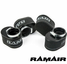 RAMAIR High Flow Motorcycle Performance Foam Pod Air Filter Set of 4 - 55mm