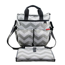 NimNik Changing Bags | Diaper Bag w/ Changing Mat | Chevron