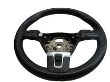 *VW SHARAN MK2 2011-ON 3 SPOKE LEATHER MULTIFUNCTION STEERING WHEEL 3C8419091BE