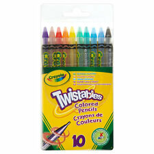 Crayola 10 Twistables Coloured Crayons Pencils coloured Twistable Colouring art