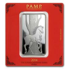 100 gram Silver Bar - Pamp Suisse (Year of the Horse) #27177v2 Lot 1150J