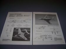 VINTAGE..GRUMMAN F9F-8 COUGAR...4-VIEWS/DETAILS/WEAPONS..RARE! (948G)