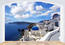 WALLPAPER MURAL PHOTO Santorini Greece coast WALL DECOR PAPER GIANT ART Seaside