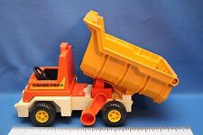 1979 FISHER PRICE STURDY PLASTIC DUMP TRUCK - MADE IN USA - #328