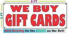 WE BUY GIFT CARDS Full Color Banner Sign NEW Larger Size Best Price on the Net!