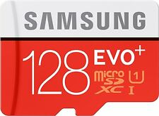 Samsung 128GB EVO plus 80MB/s MicroSD SDXC Class 10 Memory Card Adapter New