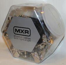 "20 pcs Jar MXR 6"" Guitar Patch Cables, Right Angle, Brand New."