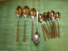 """Vintage AMC """"OSLO"""" 14 Pieces of Stainless Spoons, 3 sizes, Made in Japan"""