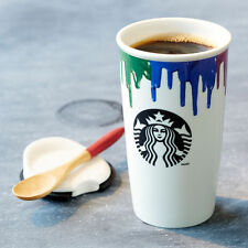 STARBUCKS BAND OF OUTSIDERS Ceramic Double Wall Travel Cup Mug Multicolor 2014