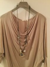 Ann Taylor LOFT Long Mixed Metal Disc Statement Necklace