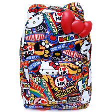 Sanrio Hello Kitty School Backpack with 3D Bow and Ears Laptop Book Bag Stickers