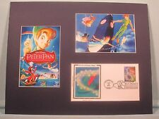 Walt Disney's Peter Pan, Captain Hook & Tinkerbelle & First Day Cover of Stamp