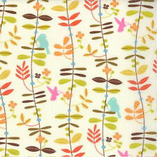 Moda Wrens and Friends Floral Leaves Fabric in Cream 10003-11 by Gina Martin