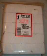 "Pro Shot 1000 1 3/4"" square  Cleaning Patches 270 7mm 308 30-06 7.62 caliber"