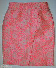 NWT $118 J Crew Crossover Pencil Skirt in Floral Jacquard Size 4