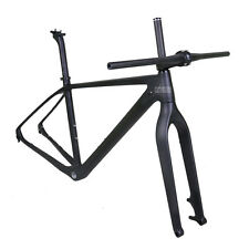 "21"" 29er Carbon Mountain Bike Frame Fork Handlebar Stem Matt 142mm Thru Axle BSA"
