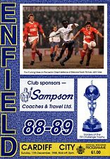 1988/89 Enfield v Cardiff City, FA Cup, PERFECT CONDITION