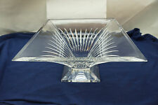WATERFORD CRYSTAL BOWL CLARION PATTERN FOOTED CENTERPIECE SIGNED LARGE 10in
