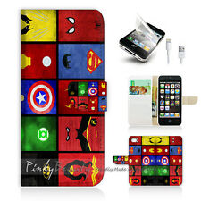 iPhone 5C Print Flip Wallet Case Cover! Superhero Collection P0139